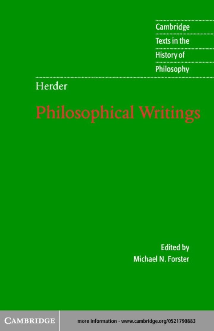 Herder: Philosophical Writings