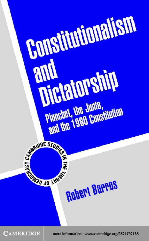 Constitutionalism and Dictatorship