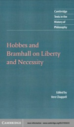"""""""Hobbes and Bramhall on Liberty and Necessity"""" (9780511034930)"""