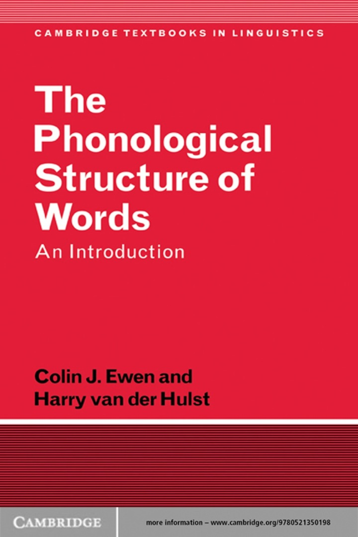The Phonological Structure of Words