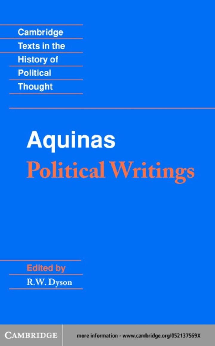 Aquinas: Political Writings