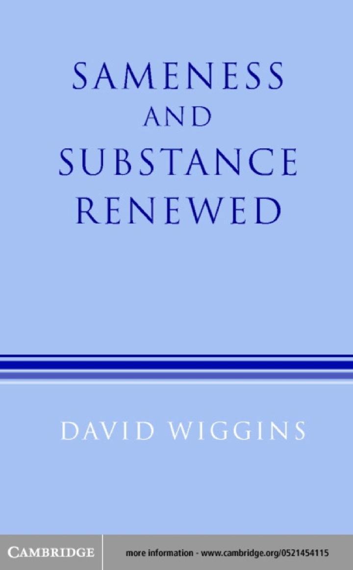 Sameness and Substance Renewed