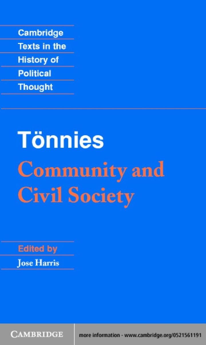 Tönnies: Community and Civil Society