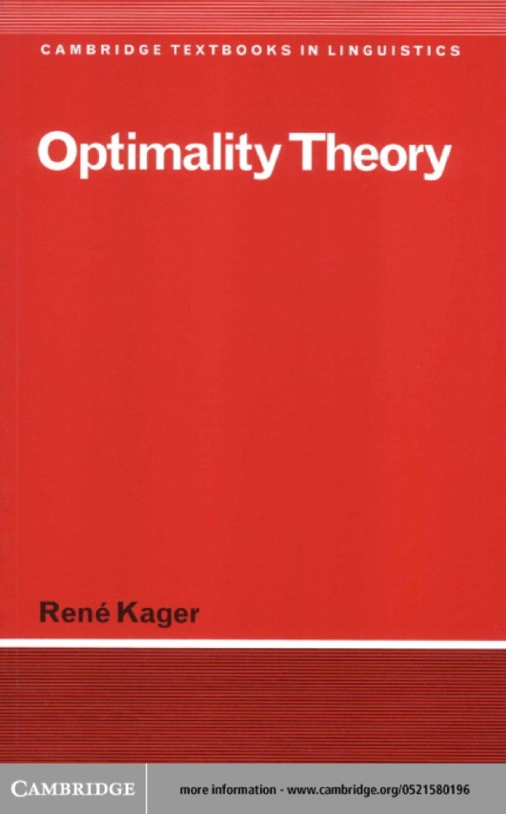 Optimality Theory