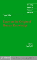 """Condillac: Essay on the Origin of Human Knowledge"" (9780511038907)"