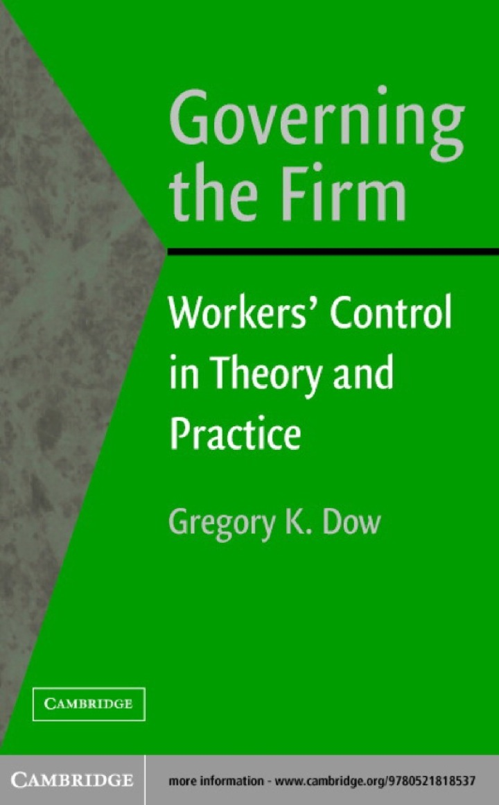Governing the Firm