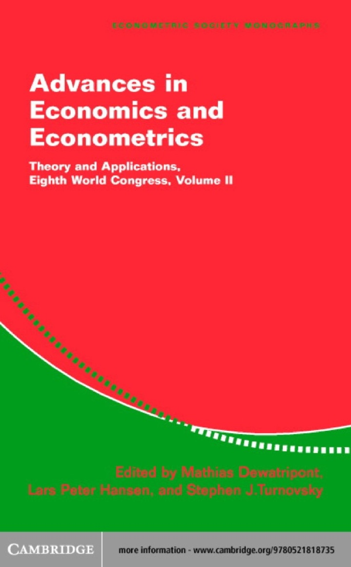Advances in Economics and Econometrics: Volume 2