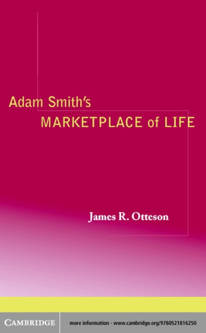 Adam Smith's Marketplace of Life