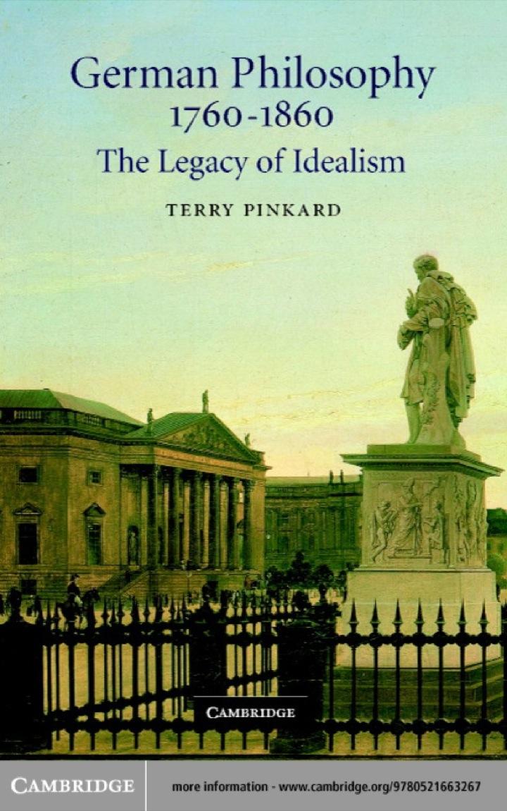 German Philosophy 1760–1860