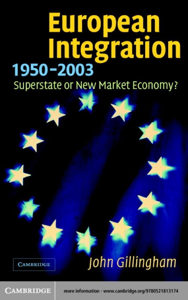European Integration, 1950–2003