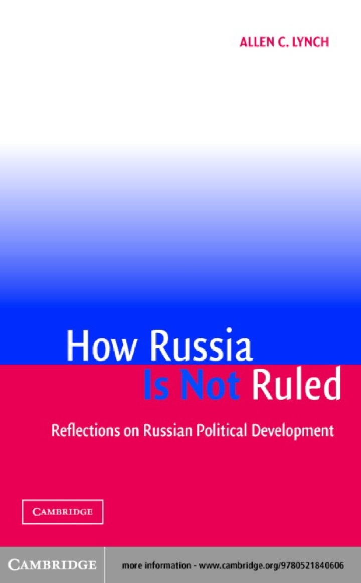 How Russia Is Not Ruled