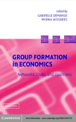 """""""Group Formation in Economics"""" (9780511108938)"""