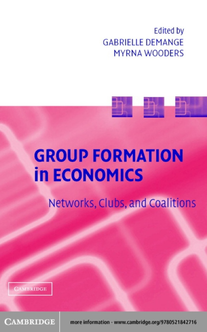 Group Formation in Economics