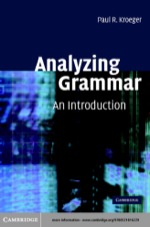 """Analyzing Grammar"" (9780511111754)"