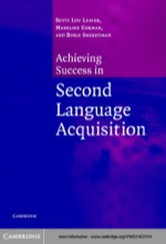 """Achieving Success in Second Language Acquisition"" (9780511111891)"