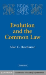 """""""Evolution and the Common Law"""" (9780511112089)"""