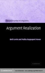"""Argument Realization"" (9780511113697)"