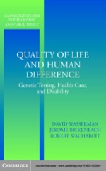 """""""Quality of Life and Human Difference"""" (9780511113840)"""