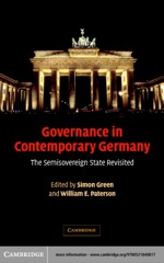 """Governance in Contemporary Germany"" (9780511123863)"