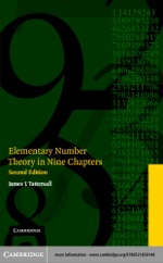 """Elementary Number Theory in Nine Chapters"" (9780511123870)"