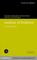 """Analysis of Evidence"" (9780511126437)"