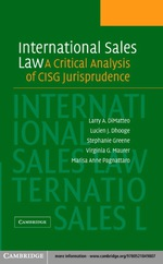 """International Sales Law"" (9780511128295)"