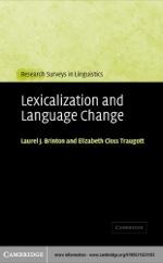 """Lexicalization and Language Change"" (9780511131394)"