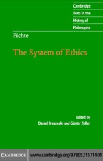 """""""Fichte: The System of Ethics"""" (9780511133213)"""