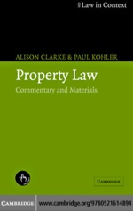 """Property Law"" (9780511133237)"