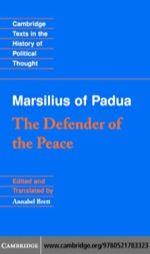 """Marsilius of Padua: The Defender of the Peace"" (9780511133282)"