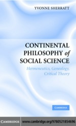 """Continental Philosophy of Social Science"" (9780511138232)"