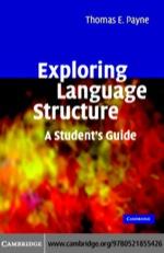 """""""Exploring Language Structure"""" (9780511138331)"""