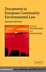 """Documents in European Community Environmental Law"" (9780511159275)"
