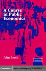 """""""A Course in Public Economics"""" (9780511162190)"""