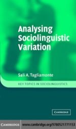 """Analysing Sociolinguistic Variation"" (9780511166464)"