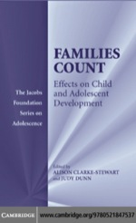 """Families Count"" (9780511166600)"