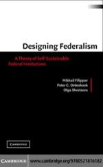 """""""Designing Federalism"""" (9780511189081)"""