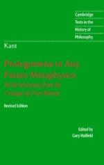 """Immanuel Kant: Prolegomena to Any Future Metaphysics"" (9780511189326)"