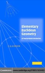 """Elementary Euclidean Geometry"" (9780511189425)"