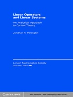 """""""Linear Operators and Linear Systems"""" (9780511189838)"""