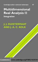 """""""Multidimensional Real Analysis II"""" (9780511192371)"""