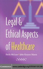 """Legal and Ethical Aspects of Healthcare"" (9780511192678)"