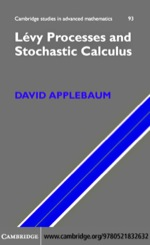 """""""Lévy Processes and Stochastic Calculus"""" (9780511207617)"""