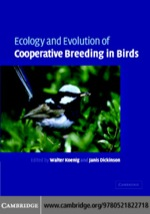 """Ecology and Evolution of Cooperative Breeding in Birds"" (9780511208034)"