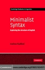 """Minimalist Syntax"" (9780511208270)"