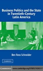 """Business Politics and the State in Twentieth-Century Latin America"" (9780511208300)"