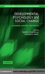 """Developmental Psychology and Social Change"" (9780511222832)"