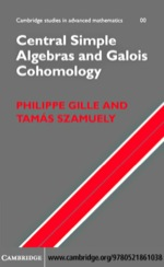 """""""Central Simple Algebras and Galois Cohomology"""" (9780511223150)"""
