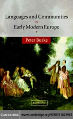 """""""Languages and Communities in Early Modern Europe"""" (9780511227189)"""