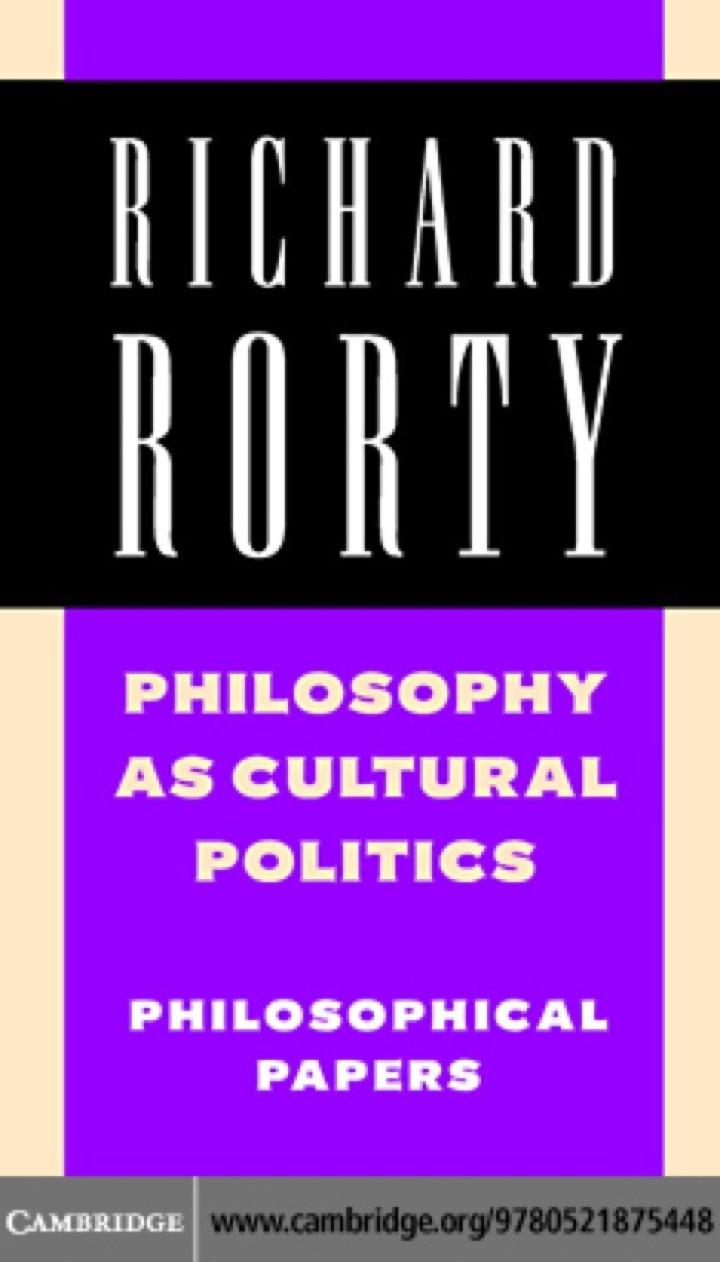 Philosophy as Cultural Politics: Volume 4